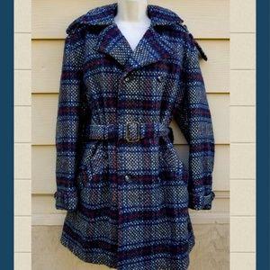 Vintage Tweed Heavy Wool Winter 60's Mod Coat